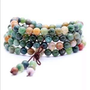 Jewelry - Mixed genuine Indian agate Mala necklace/bracelet